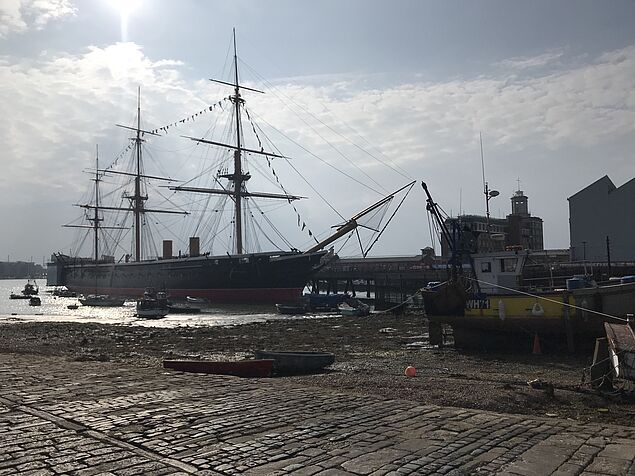 2 HMS Warrior in Portsmouth Harbour - picture by Jana Jodlbauer