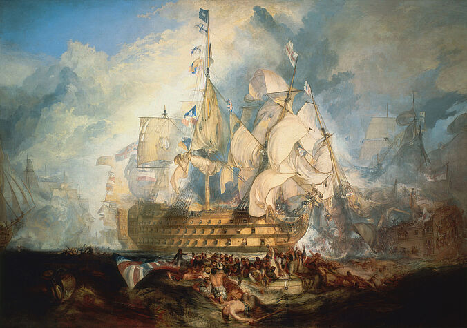 6 The Battle of Trafalgar, 21 October 1805_ by J.M.W. Turner (1822) - National Maritime Museum, Greenwich