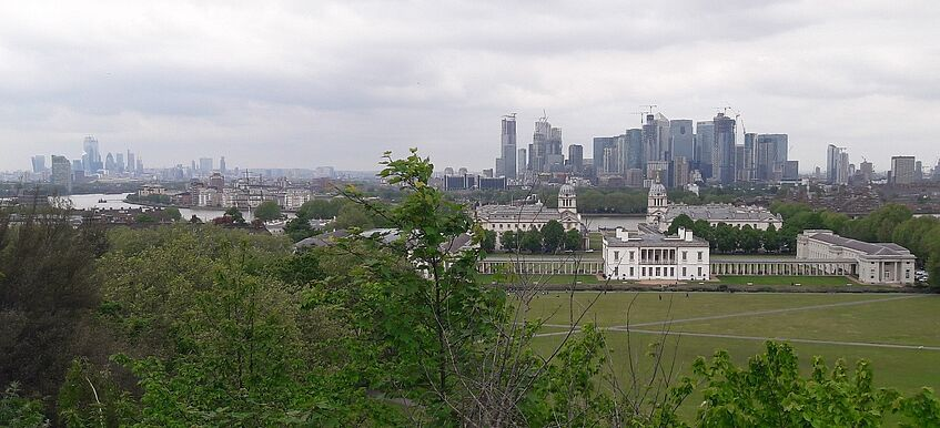 View of the London skyline from Greenwich Royal Observatory – picture by Manon Labrande